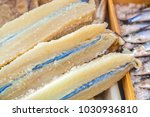 dried codfish or bacalao on...   Shutterstock . vector #1030936810