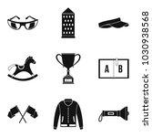 equestrian sport icons set.... | Shutterstock .eps vector #1030938568