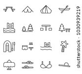 flat vector icon set   picnic... | Shutterstock .eps vector #1030939219