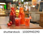 refreshing drinks with fruits | Shutterstock . vector #1030940290