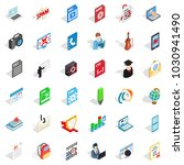 quick guide icons set.... | Shutterstock .eps vector #1030941490