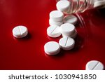 circles  white  pills scattered ... | Shutterstock . vector #1030941850