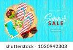 summer sale beautiful web... | Shutterstock .eps vector #1030942303