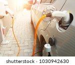 car charging image | Shutterstock . vector #1030942630