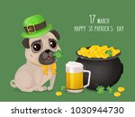 saint patricks day card with a... | Shutterstock .eps vector #1030944730