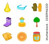pollen icons set. cartoon set... | Shutterstock .eps vector #1030946320