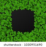 saint patrick's day frame with... | Shutterstock .eps vector #1030951690