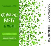 saint patrick's day poster with ... | Shutterstock .eps vector #1030960030