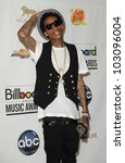 Small photo of LAS VEGAS - MAY 20: Whiz Khalifa in the Press Room at the 2012 Billboard Awards at MGM Garden Arena on May 20, 2012 in Las Vegas, NV