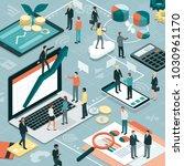 business people working... | Shutterstock .eps vector #1030961170
