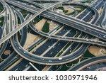 aerial view of big highway... | Shutterstock . vector #1030971946