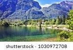 bohinj lake  ukanc  julian alps ... | Shutterstock . vector #1030972708