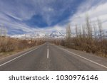 road to the mountain | Shutterstock . vector #1030976146