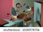 3d rendering of abstract... | Shutterstock . vector #1030978756