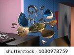 3d rendering of abstract...   Shutterstock . vector #1030978759