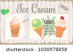 poster  one page menu  ice... | Shutterstock .eps vector #1030978858