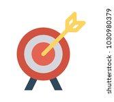 goal target success  | Shutterstock .eps vector #1030980379