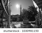 fish eye shot of mosque in... | Shutterstock . vector #1030981150