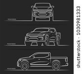 vector car silhouettes. front ... | Shutterstock .eps vector #1030981333