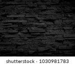 black wall texture | Shutterstock . vector #1030981783
