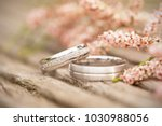 Silver Wedding Rings On A...