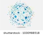 world connected. global network ... | Shutterstock .eps vector #1030988518