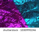 abstract colorful metal foil... | Shutterstock . vector #1030990246