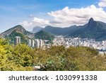 aerial view on botafogo bay of... | Shutterstock . vector #1030991338