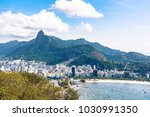 aerial view on botafogo bay of... | Shutterstock . vector #1030991350