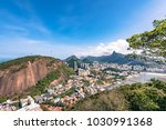 aerial view on botafogo bay of... | Shutterstock . vector #1030991368