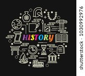 history colorful gradient with... | Shutterstock .eps vector #1030992976
