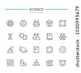 science line icons. | Shutterstock .eps vector #1030995679