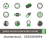 sport balls simple vector icons ... | Shutterstock .eps vector #1031004094