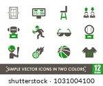 sport simple vector icons in... | Shutterstock .eps vector #1031004100