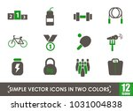 sport simple vector icons in... | Shutterstock .eps vector #1031004838