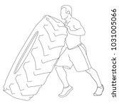 shirtless muscular man standing ... | Shutterstock .eps vector #1031005066