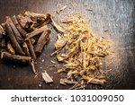 close up of ayurvedic herb... | Shutterstock . vector #1031009050