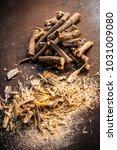 close up of ayurvedic herb... | Shutterstock . vector #1031009080