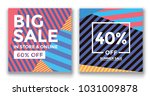 set of three different sale... | Shutterstock .eps vector #1031009878