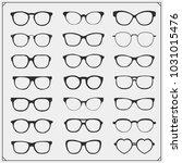 vector set of glasses... | Shutterstock .eps vector #1031015476
