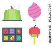 icons coffee shop. vector jelly ... | Shutterstock .eps vector #1031017069
