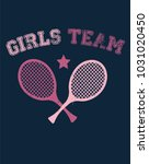 girls sporty wear. t shirt... | Shutterstock .eps vector #1031020450