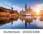 dresden city skyline panorama... | Shutterstock . vector #1031021068