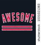 active wear print. sporty... | Shutterstock .eps vector #1031021383