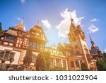 peles castle  sinaia  romania.... | Shutterstock . vector #1031022904