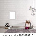 decorative white room detail... | Shutterstock . vector #1031023216