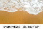 beautiful beach and sea on... | Shutterstock . vector #1031024134