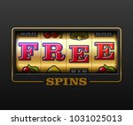 free spins bouns  slot machine... | Shutterstock .eps vector #1031025013