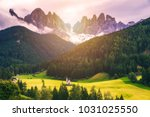 famous best alpine place of the ... | Shutterstock . vector #1031025550