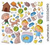 pet shop  zoo  veterinary.... | Shutterstock .eps vector #1031026090